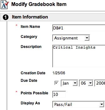 modify grade