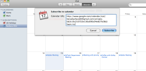 Subscribe to calendar in iCal