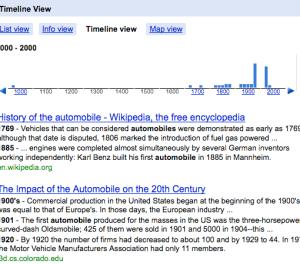Google automatic timeline